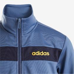 Trainingsanzug Logo auf der Brust Kinder blau