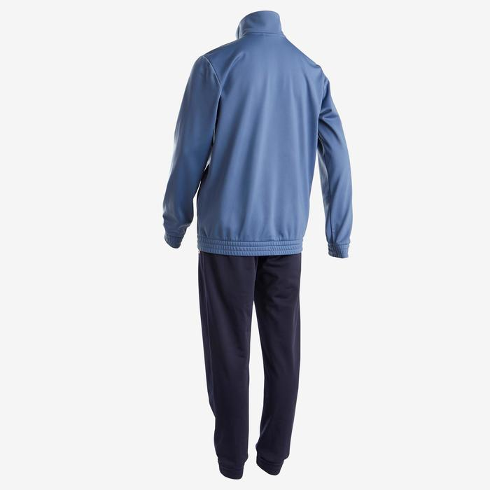 Trainingspak voor jongens van Adidas, blauw met logo op de borst