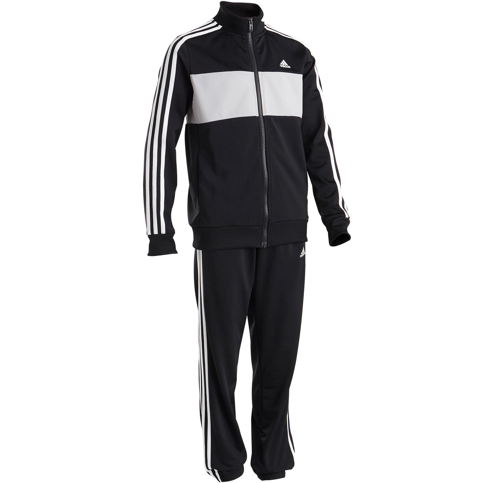 Jungen,  Kinder,  Kinder Adidas Trainingsanzug Logo auf der Brust Kinder schwarz   04060515000007
