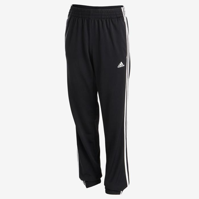 Trainingspak voor jongens van Adidas, logo op de borst, zwart met 3 witte lijnen