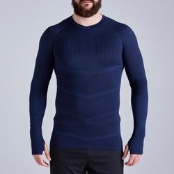 Ondershirt voor voetbal volwassenen Keepdry 500 donkerblauw