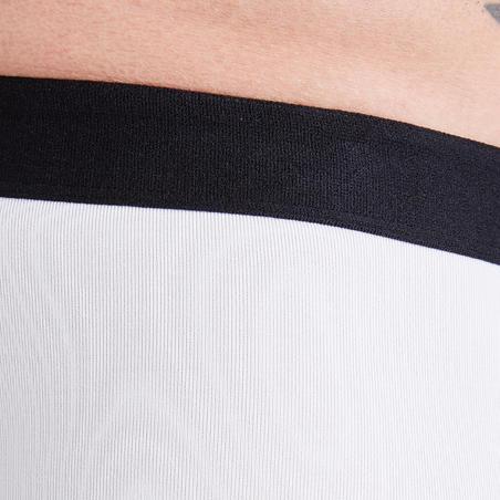 Short - mallas térmicas de fútbol adulto Keepdry 100 blanco