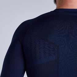 Thermoshirt Keepdry 500 lange mouw donkerblauw unisex