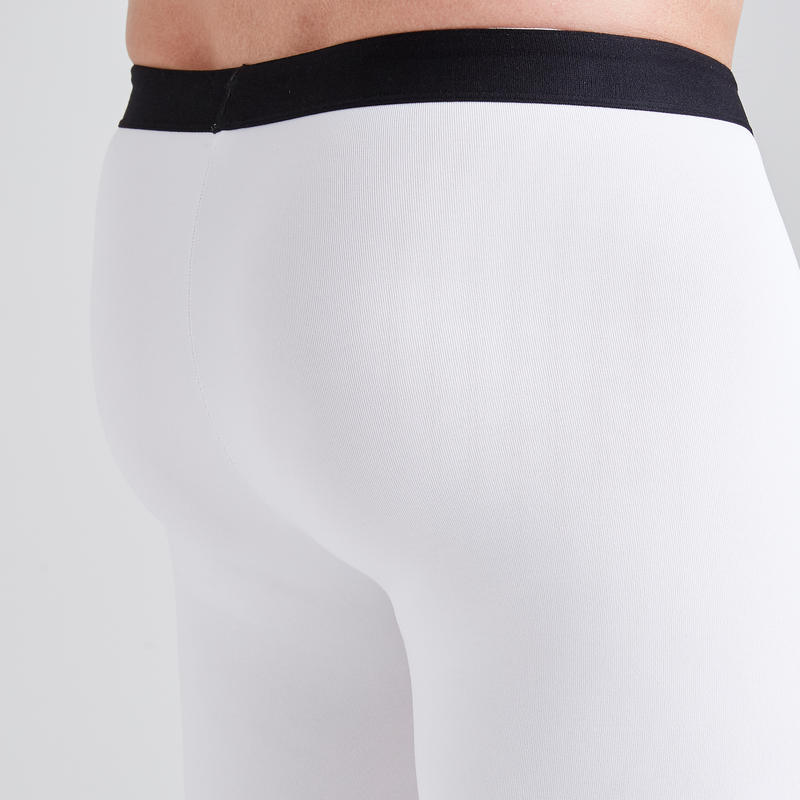 Short térmico de fútbol adulto Keepdry 100 blanco