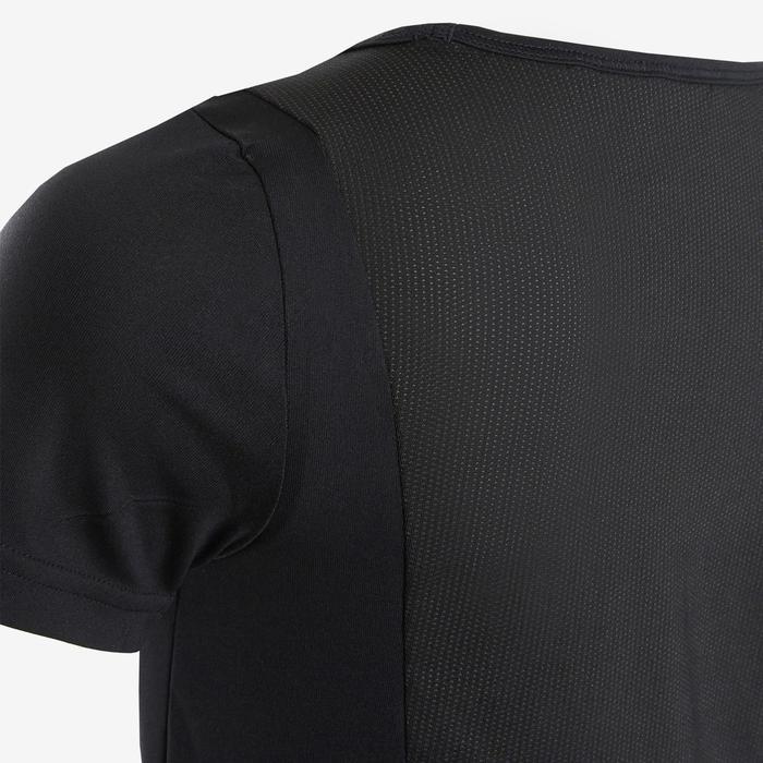Camiseta Manga Corta Deportiva Gimnasia Adidas Niña Negro