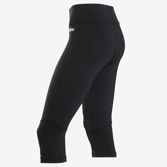 Kuitbroek voor meisjes met Adidas-logo op het been zwart