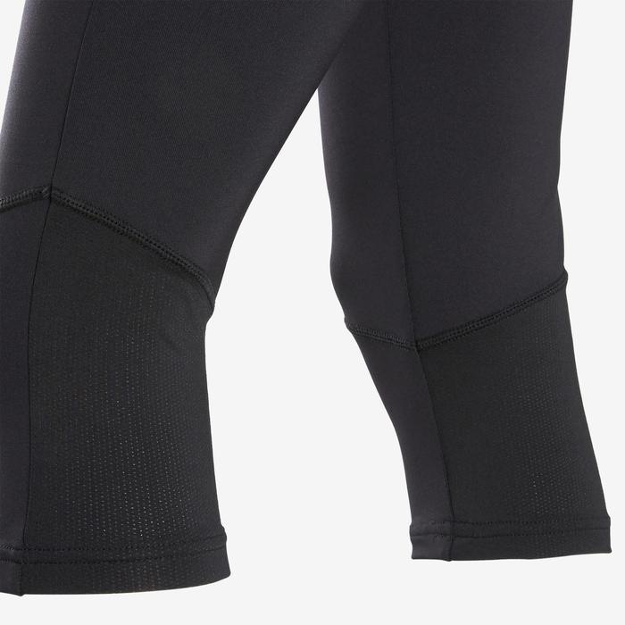Corsaire fille noir avec logo adidas sur la jambe