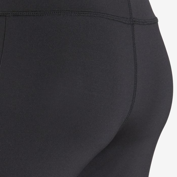 Kuitbroek voor meisjes zwart met logo op de pijp