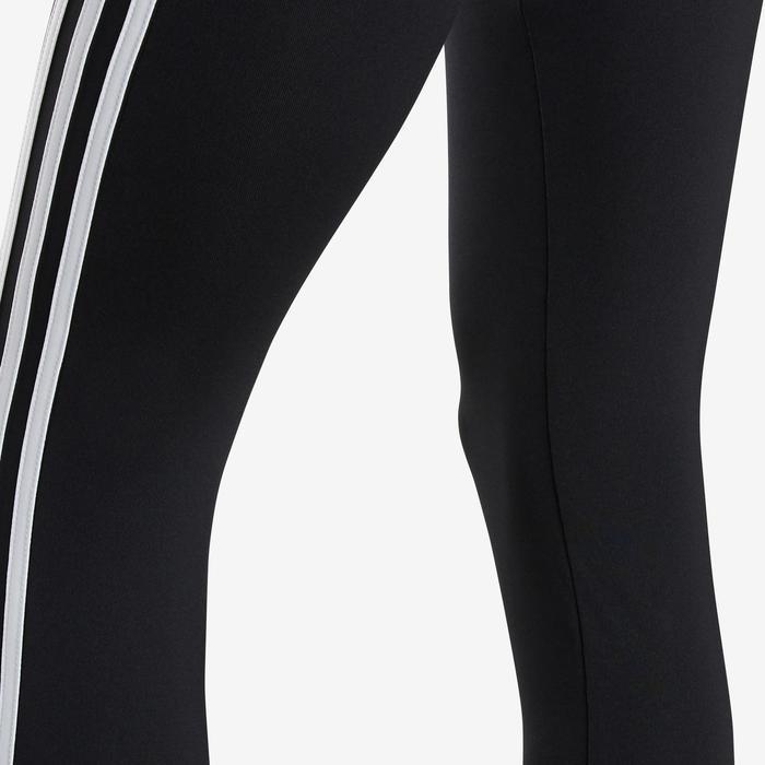 Leggings niña adidas negros con un estampado en el bajo de la pierna