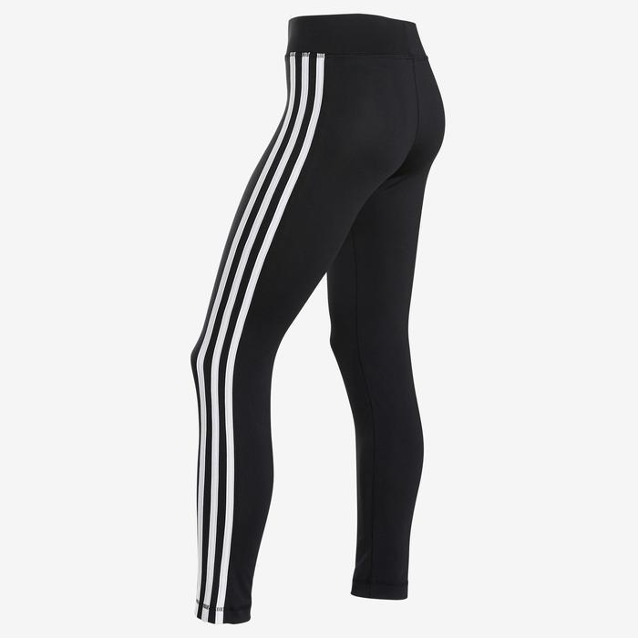 Legging fille adidas noir avec un imprimé sur le bas de la jambe