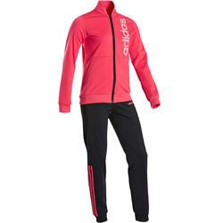 Chándal Gimnasia Adidas 100 Niña 5-15 Años Rosa/Negro