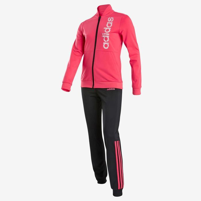 Survêtement fille rose pour la gym avec logo adidas sur la poitrine
