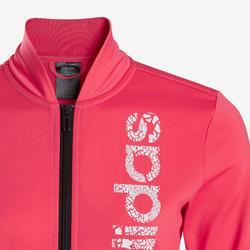 Trainingsanzug Logo auf der Brust Kinder rosa