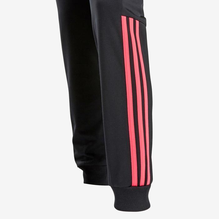 Trainingspak voor meisjes, roze met Adidas-logo op de borst