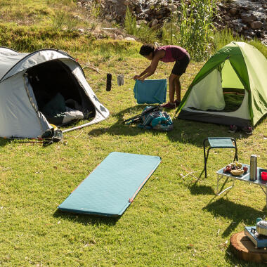 Different camping tents and gears by DECATHLON