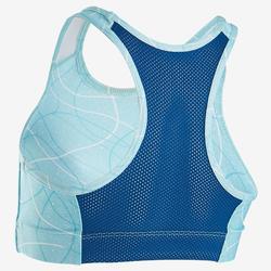 Ademend sporttopje voor meisjes S900 lichtblauw AOP