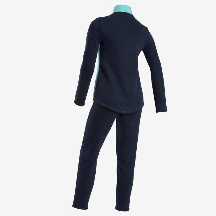 Survêtement Ensemble chaud 100 fille GYM ENFANT bleu/marine Warmy Zip