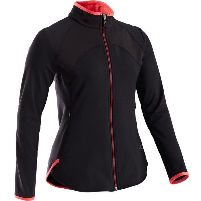 Trainingsjacke S900 warm atmungsaktiv GYM Kinder schwarz