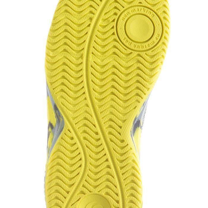 Tennisschuhe TS160 Turnschuhe Kinder camouflage/gelb