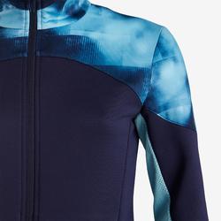 Veste chaude, synthétique respirante S500 fille GYM ENFANT bleu, imprimé épaule
