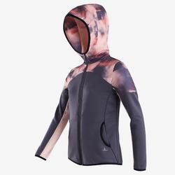 女童透氣保暖健身合成外套S500 - 黑色/粉色