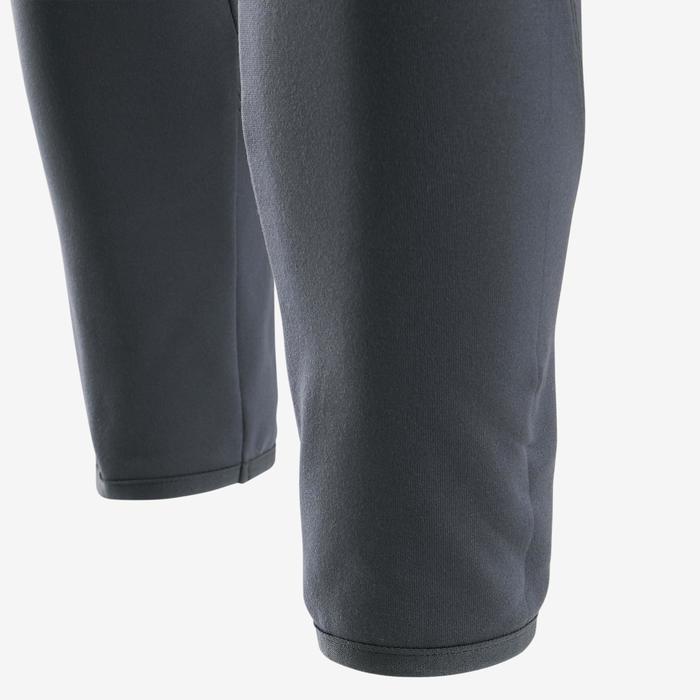 Pantalon chaud respirant S500 fille GYM ENFANT marine/ ceinture imprimé rose