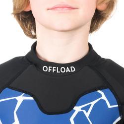 Rugby-Schulterschutz R100 Kinder blau Turtle