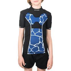 Shoulder pads voor rugby R100 kinderen blauw schildpad