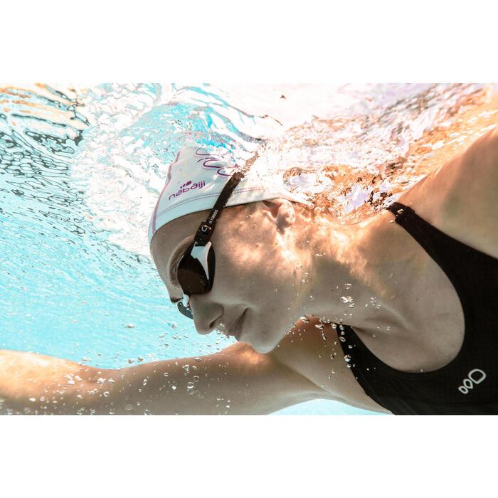 B-FIT Swimming Goggles 500 - White Black Smoke Lenses 300° / -3