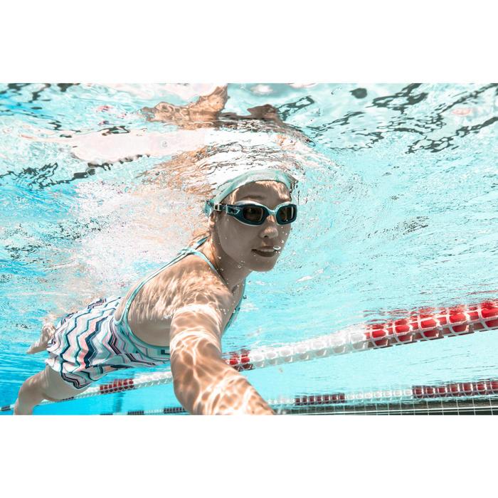 Glas op sterkte -6 voor zwembril 500 Selfit maat L getint