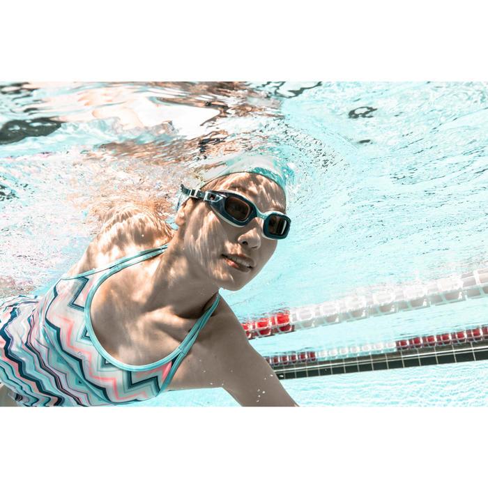Glas op sterkte -6 voor zwembril 500 Selfit maat S getint