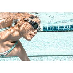 Glas op sterkte 0 voor zwembril 500 Selfit maat L getint