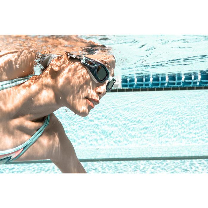 Glas op sterkte -4 voor zwembril Selfit 500 maat S getint