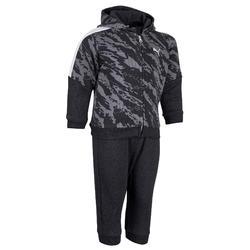 Trainingsanzug Babyturnen grau/schwarz