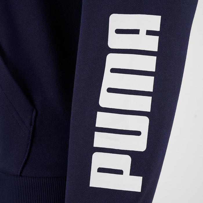 Kapuzenjacke mit Reißverschluss Kinder marineblau