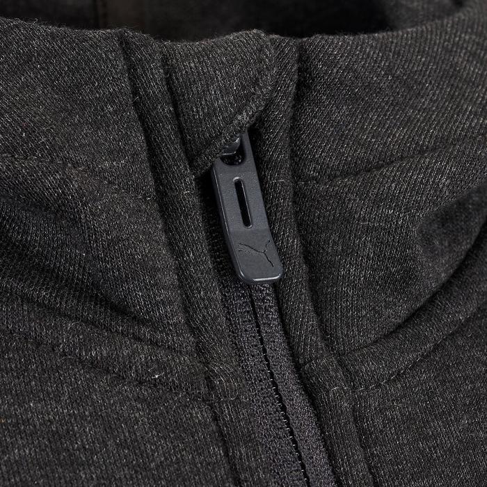 Kapuzenjacke mit Reißverschluss Kinder grau