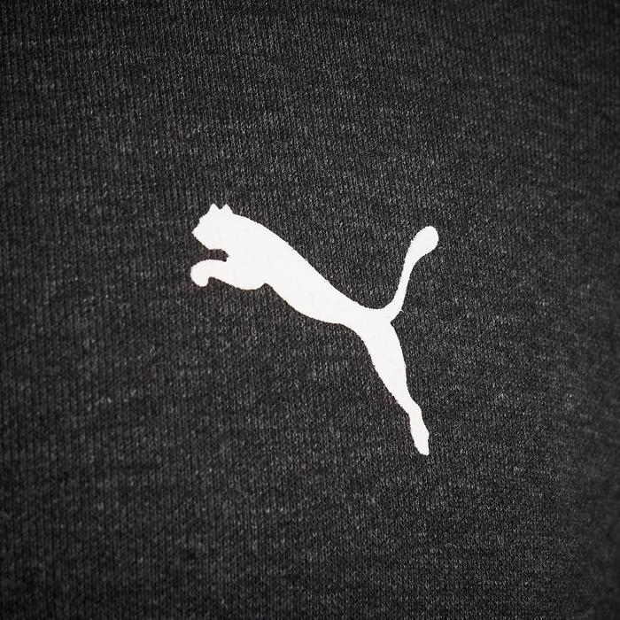 Hoodie met rits Puma grijs