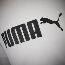 Camiseta Manga Corta Deportiva Gimnasia Puma Regular Niño Blanco