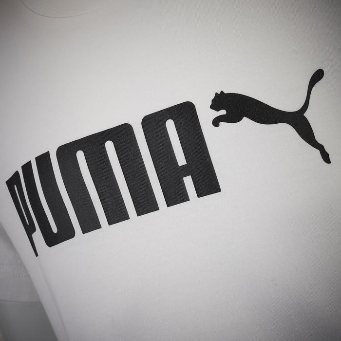 T-shirt regular fit met groot logo katoen