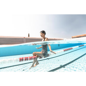 Montuur voor zwembril 500 Selfit maat L oranje/blauw
