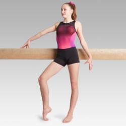 Damesshort 900 met stras voor artistieke gymnastiek zwart