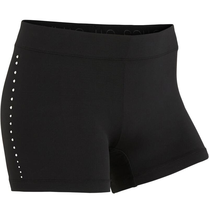 900 Women's Artistic Gymnastics Shorts - Black Rhinestones
