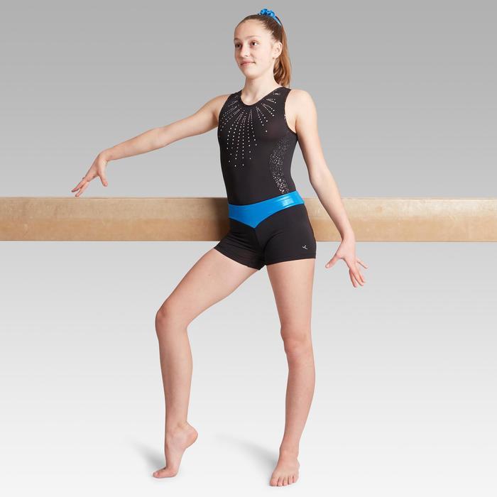 Short bleu 500 gymnastique artistique féminine