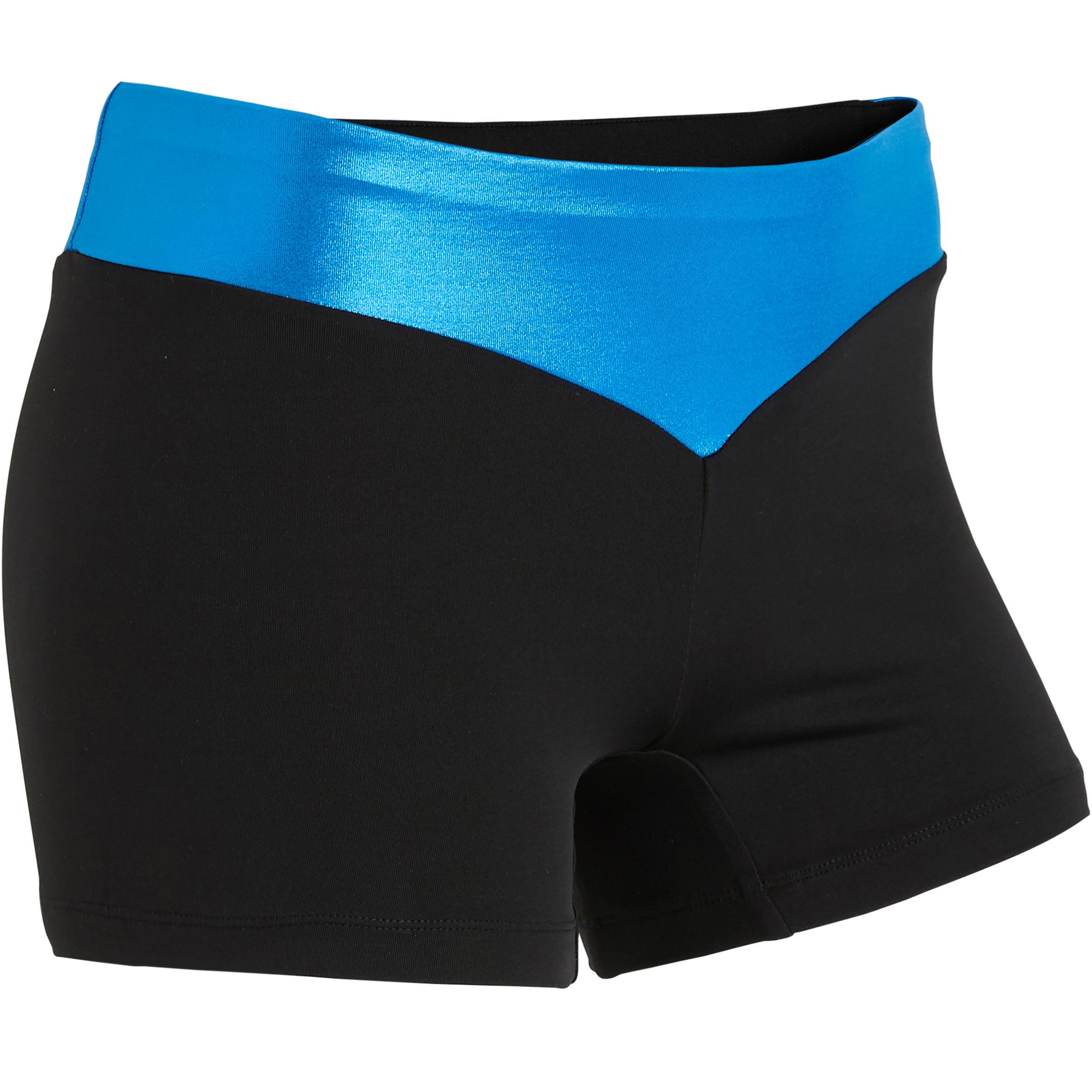 Short bleu 500 gymnastique artistique féminine domyos