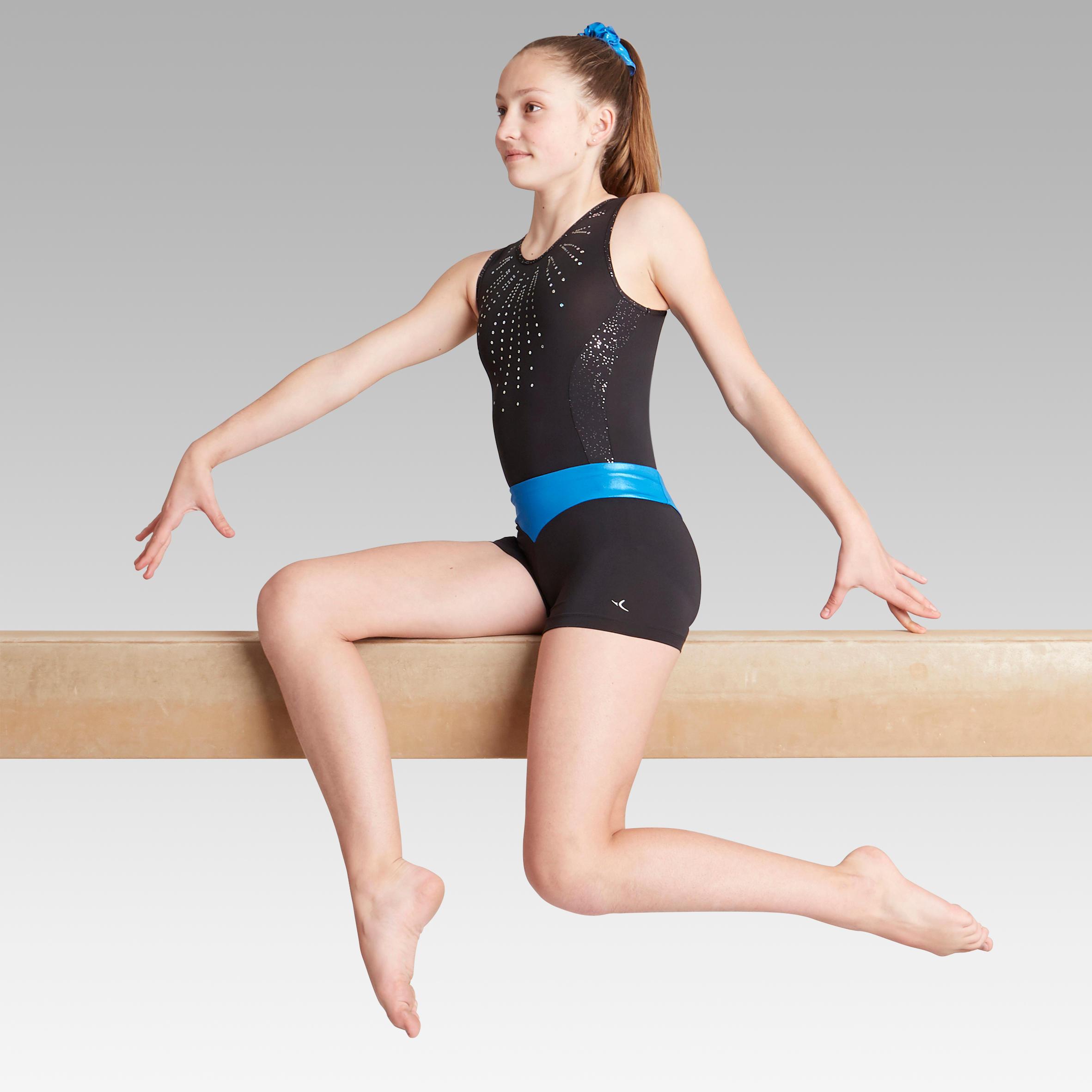 Șort gimnastică feminină 500 la Reducere poza
