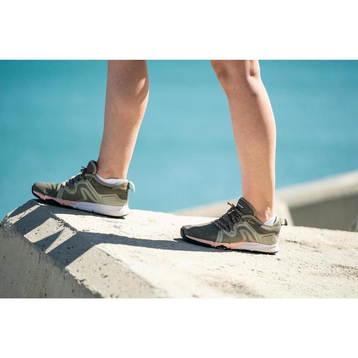 Chaussures marche sportive femme PW 540 Flex-H+ kaki / rose