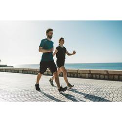 Herensneakers voor sportief wandelen PW 540 Flex-H+ zwart / oranje