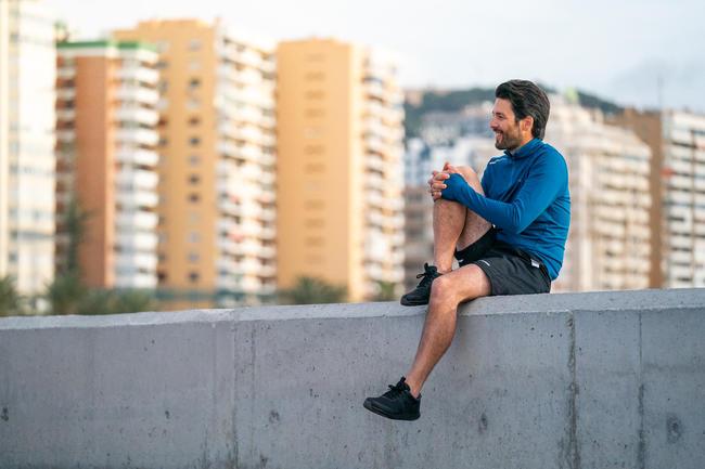 Walking Shoes for Men Fitness Walk resist- Black