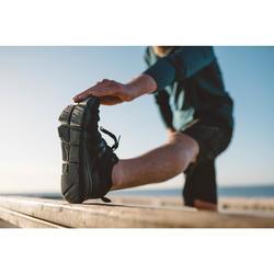 Herensneakers voor sportief wandelen PW 540 Flex-H+ full zwart