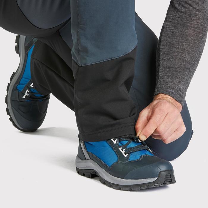 Pantalon chaud déperlant de randonnée stretch et guêtres - SH520 X-WARM - homme